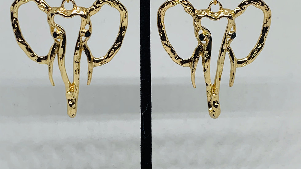 Gold Elephant Earrings