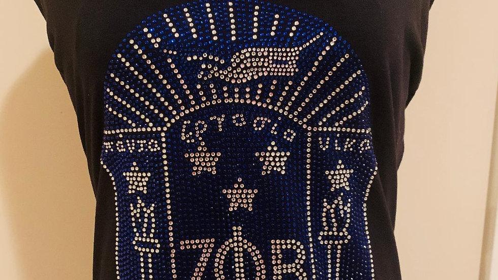 Zeta Phi Beta Sorority, Inc. (Bling T-Shirt-Black)