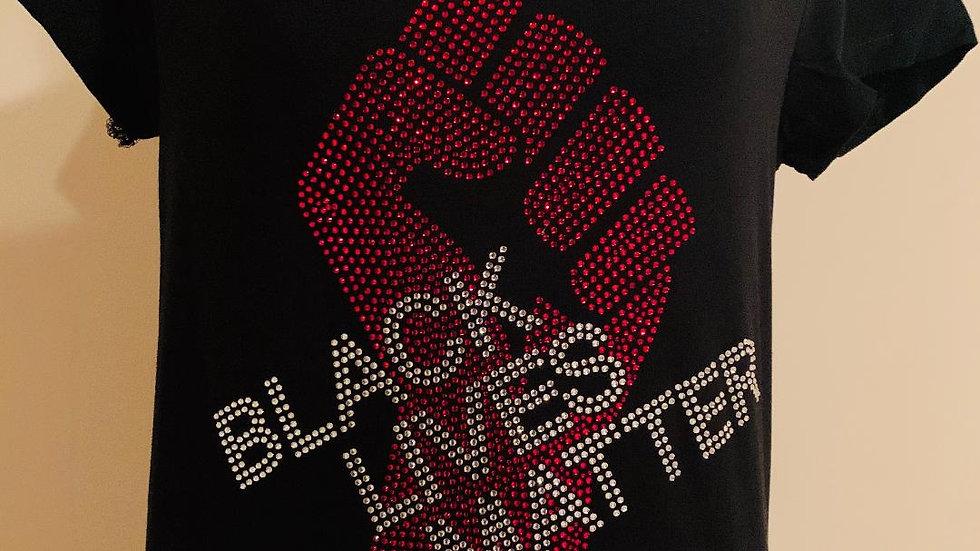 Black Lives Matter Bling Tee