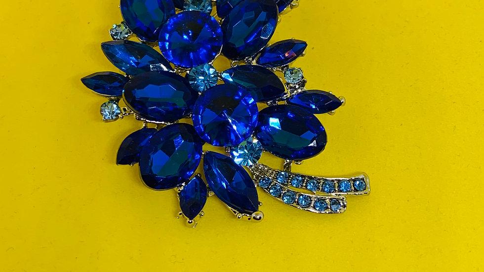 Blue Ice Brooch