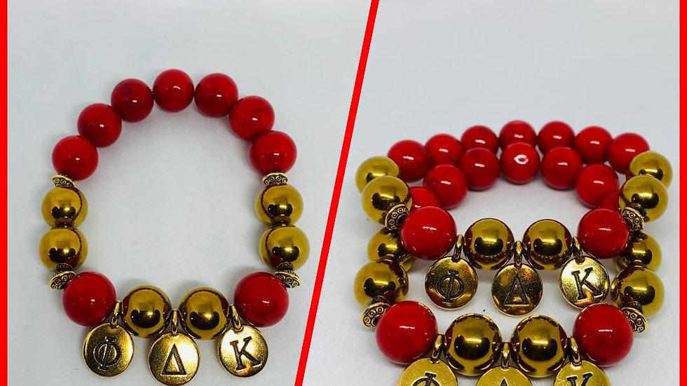 Phi Delta Kappa Greek Letter Charm Bracelet