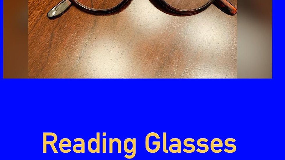 Blue & Gold Reading Glasses