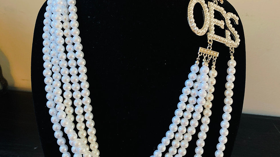 OES White Pearl Necklace