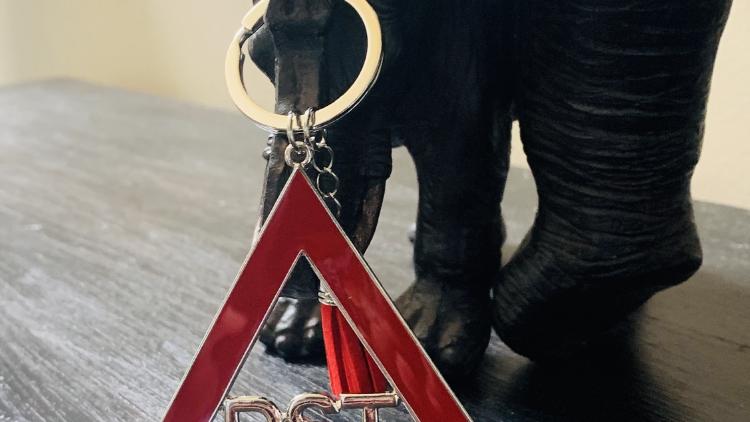 DST Pyramid Keychain