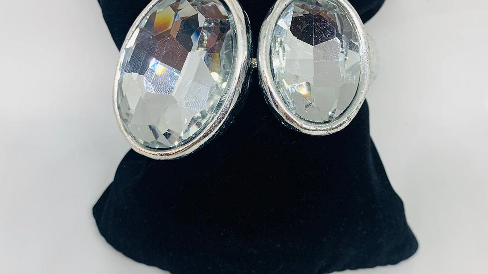 Double Bling Silver  Bangle