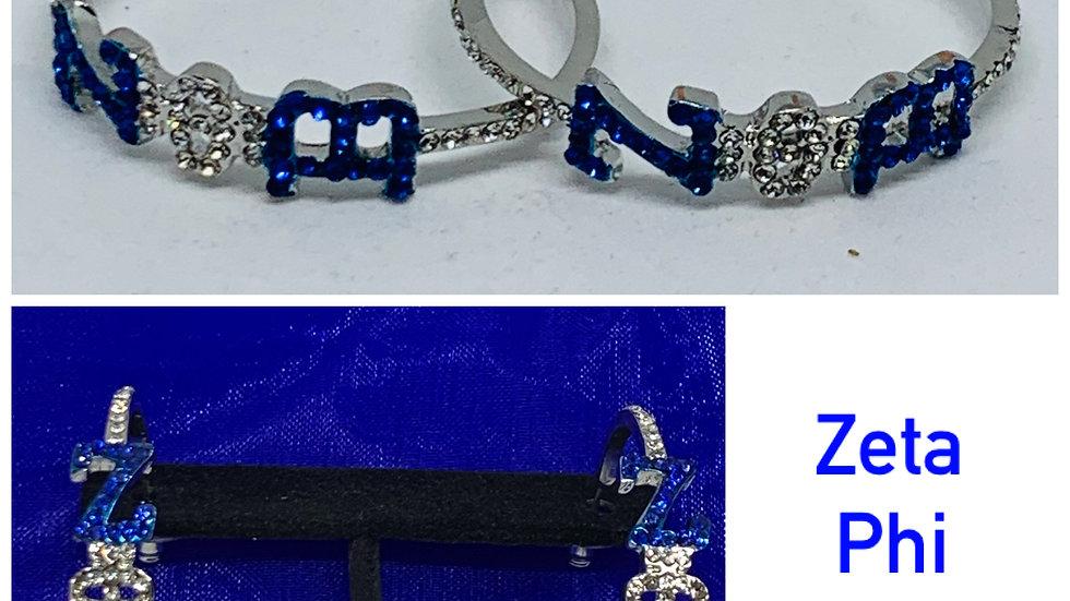 Zeta Phi Beta (Open) Bling Earrings