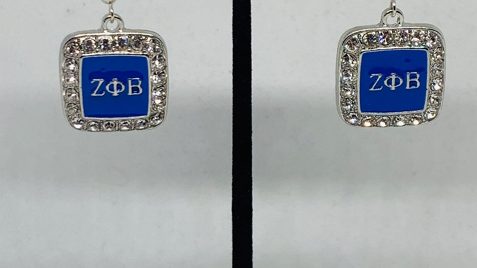 Zeta Phi Beta Sorority, Inc. (Squared Bling Earrings)