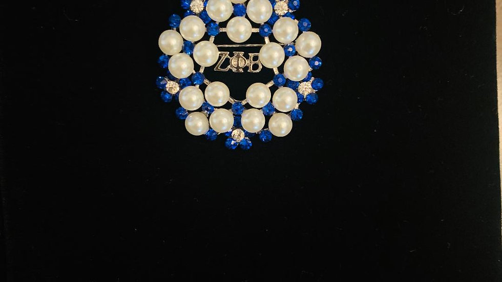 Zeta Phi Beta Greek Letter Brooch