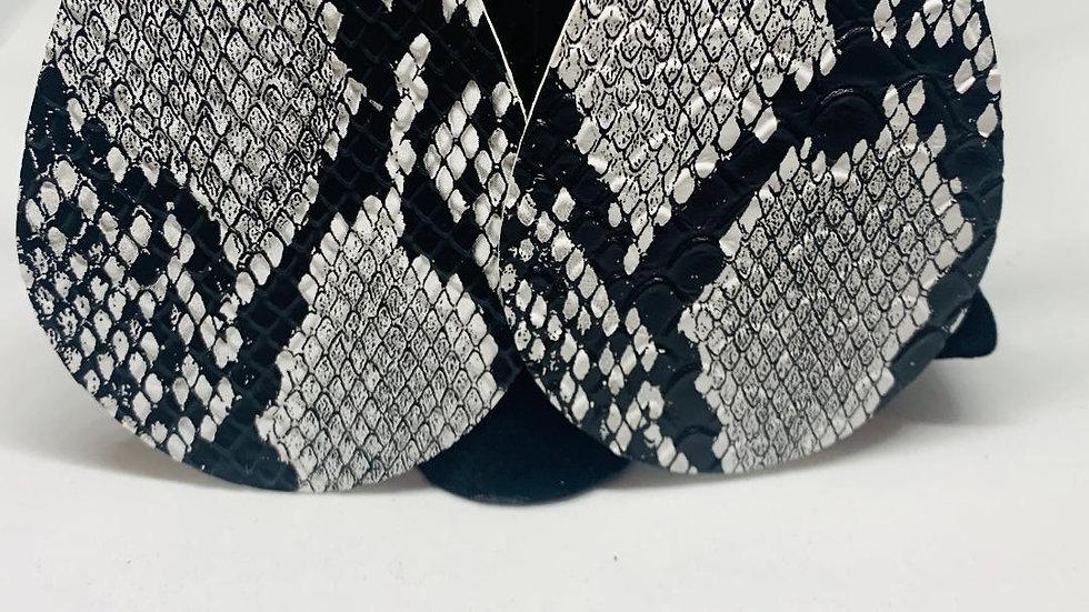Gray & Black Snakeskin Earrings (TD)