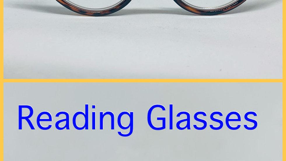 Champagne & Blue Reading Glasses