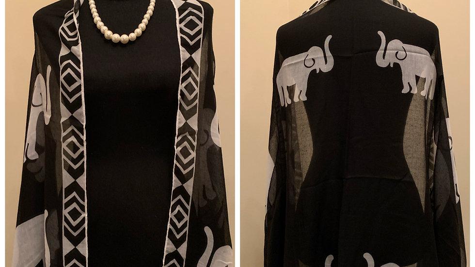 Black Elephant Light Cotton Vest