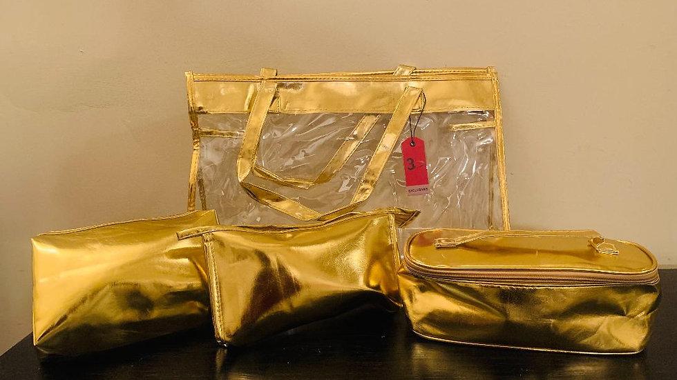 Metallic Gold Travel Set