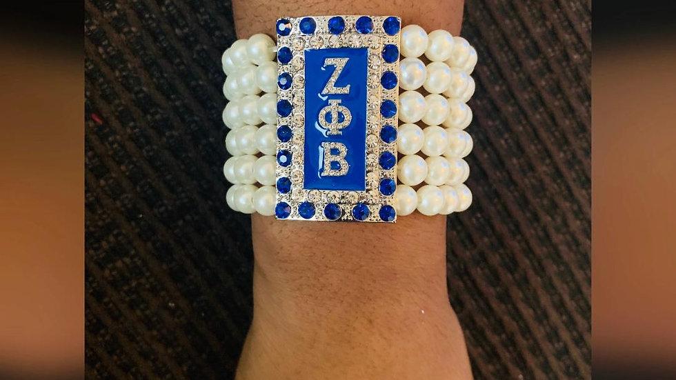 Pearl Bracelet (Greek Letters)