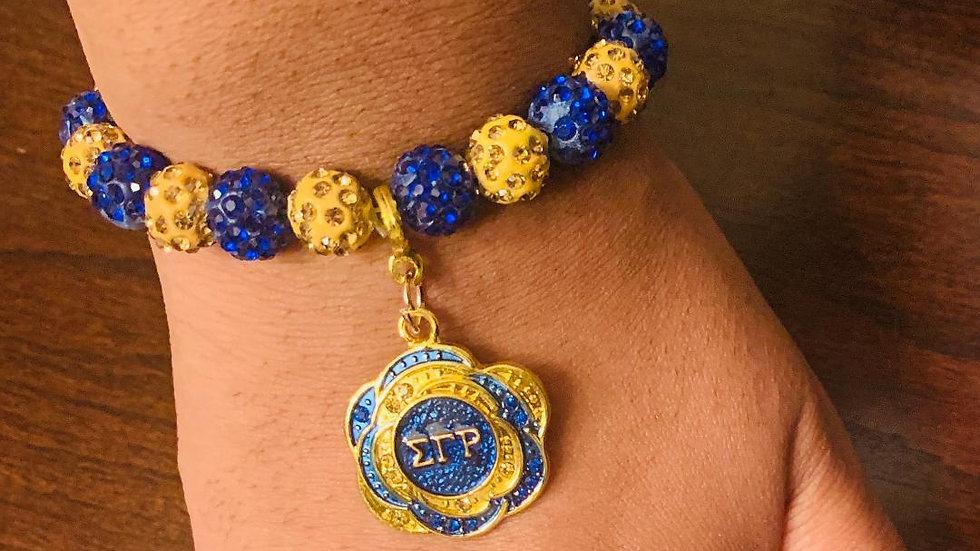 Sigma Gamma Rho Sorority, Inc. (Charm Bracelet-Petal)