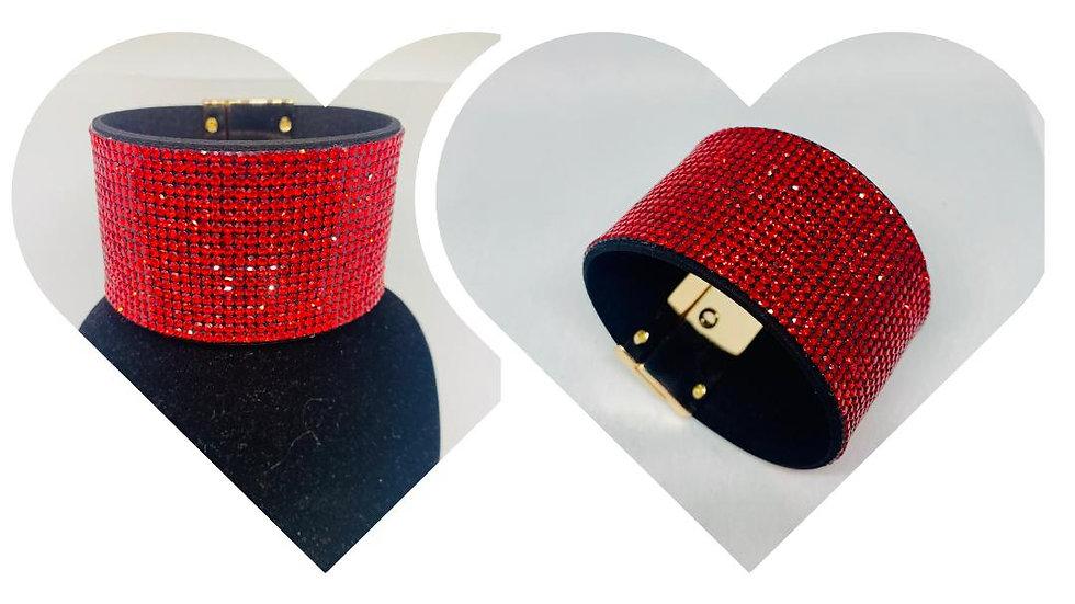 Red Bling Bracelet