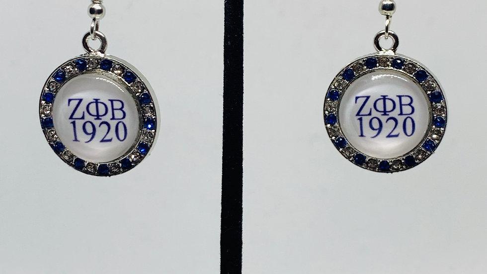 Zeta Phi Beta (Round Bling Earrings)