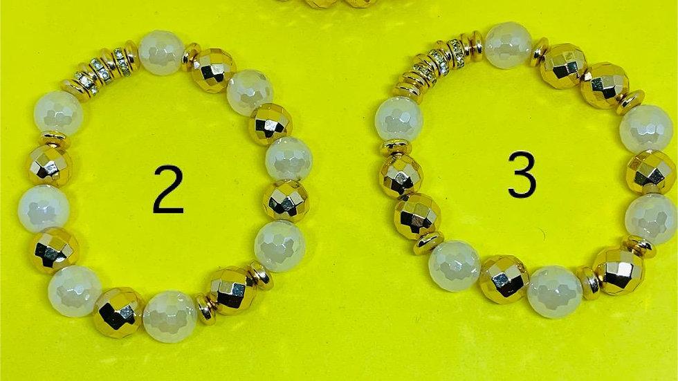 Philo Gold & White Bracelet