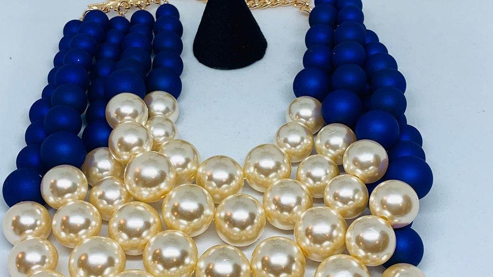 Blue & Cream Pearls