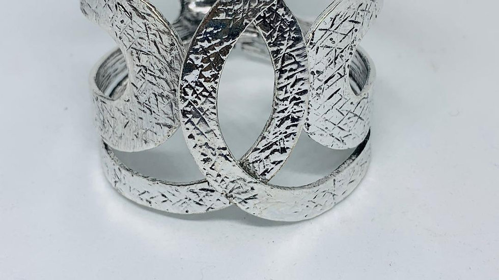 The Crossover Silver Bangle