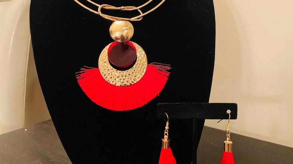 Fringed Necklace Set