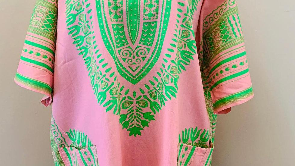Pink & Green Dashiki