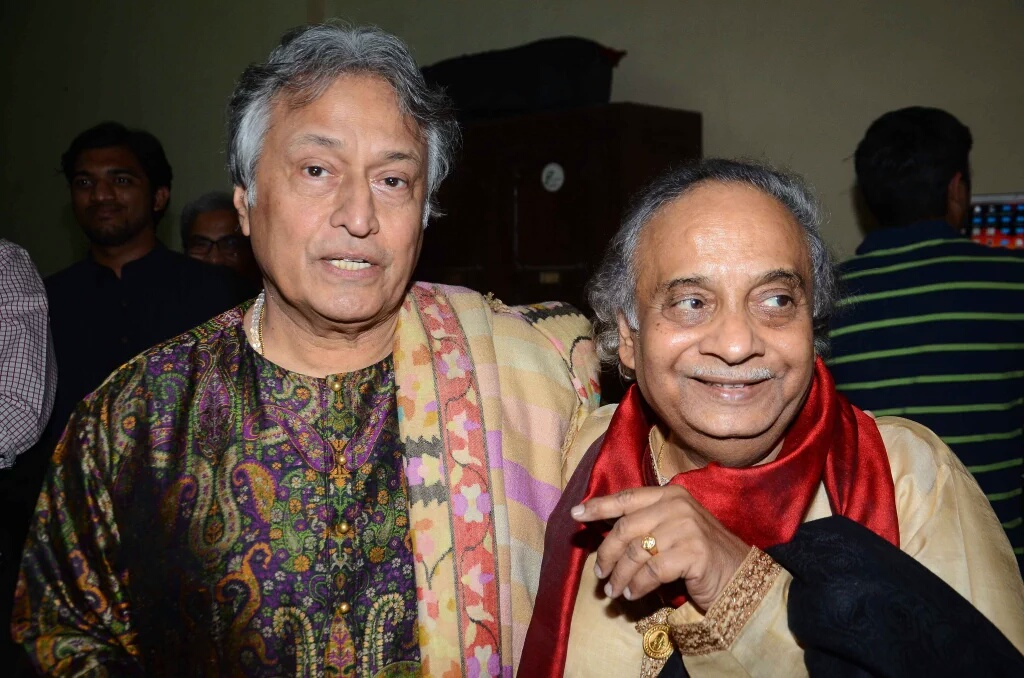 With Ustad Amjad Ali Khan