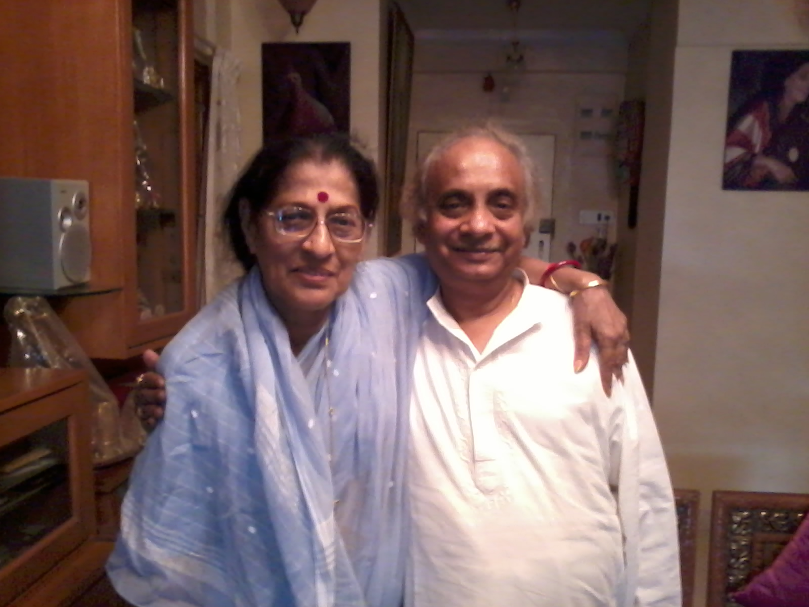 With Ganasaraswati Kishori Amonkar