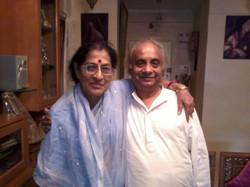 With Ganasaraswati Kishori Amonkar