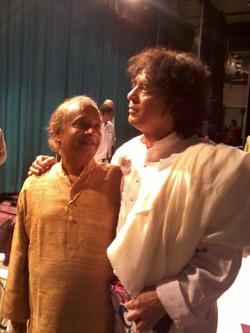With Ustad Zakir Hussain