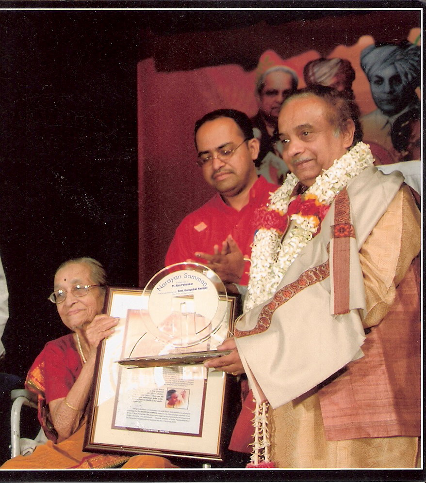 Being Awarded by Smt.Gangubai Hangal