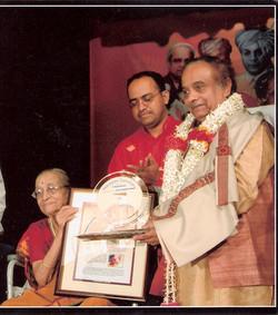 Being Awarded by Smt.Gangubai Hangal
