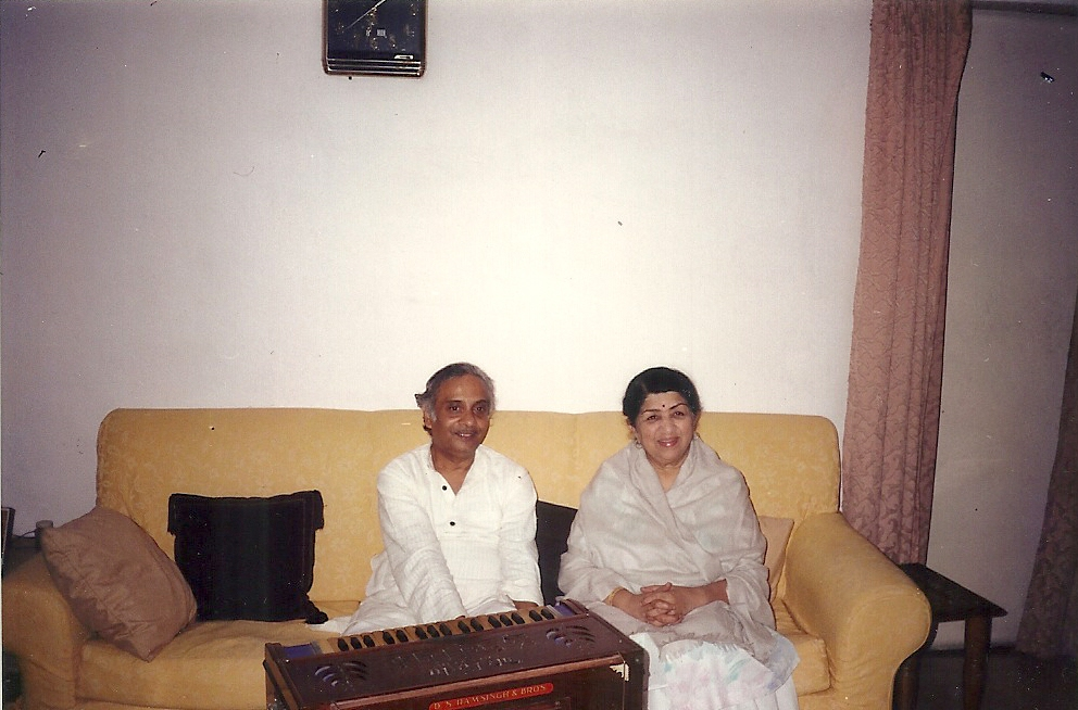 With Ganasaraswati Lata Mangeshkar
