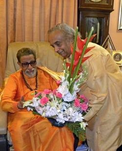 with Shri Balasaheb Thakrey