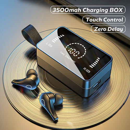 Wireless Earphones Bluetooth Charging Box With LED Display