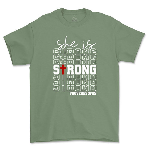 She Is Strong Proverbs Tee