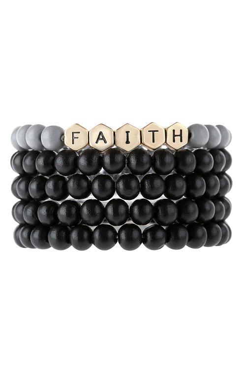 """Faith"" Multiline Bracelet"