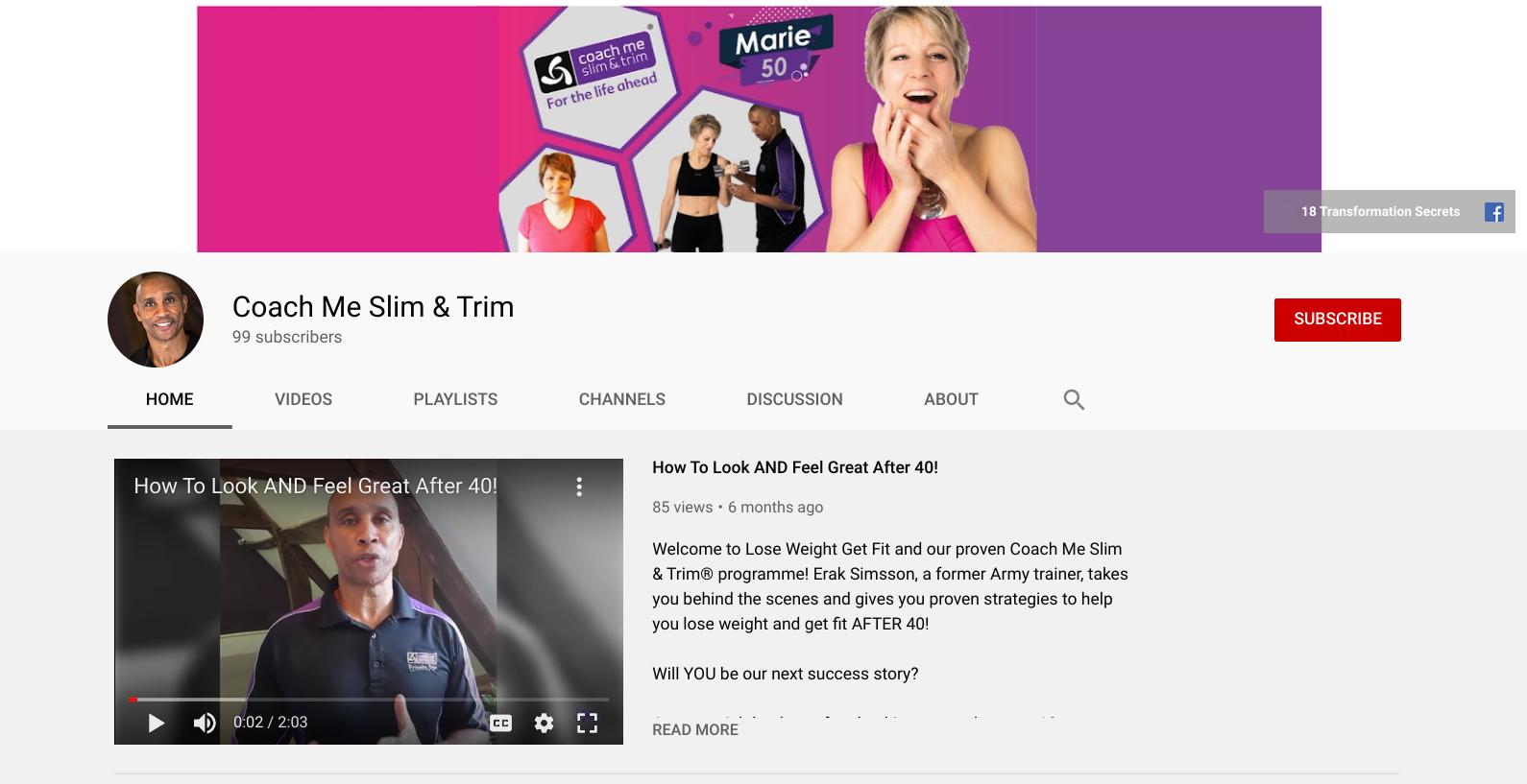 Coach Me Slim & Trim Youtube