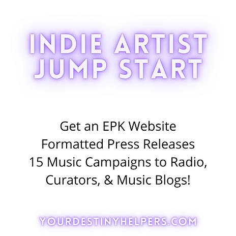 Indie Artist EPK Websites, Press Releases, Music Campaigns