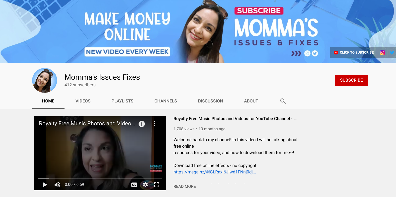Momma's Issues & Fixes Youtube Channel