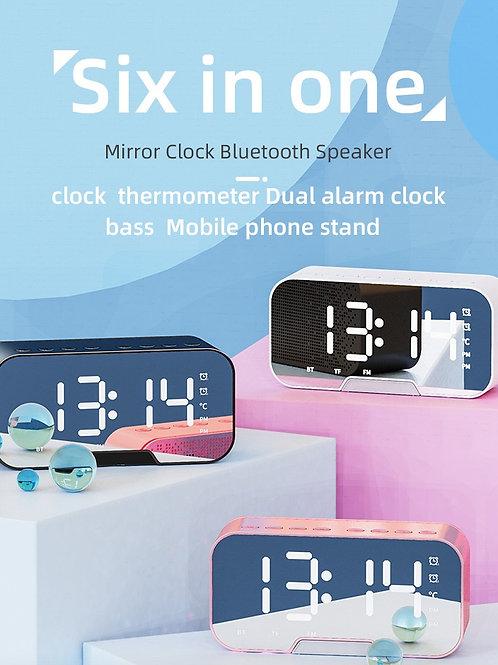 Bluetooth Stereo Digital LED Alarm Clock FM Radio Hands-Free