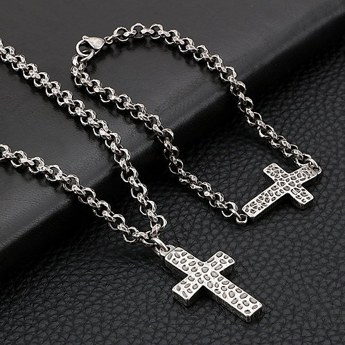 Vintage Crucifix Necklace and Matching Bracelet