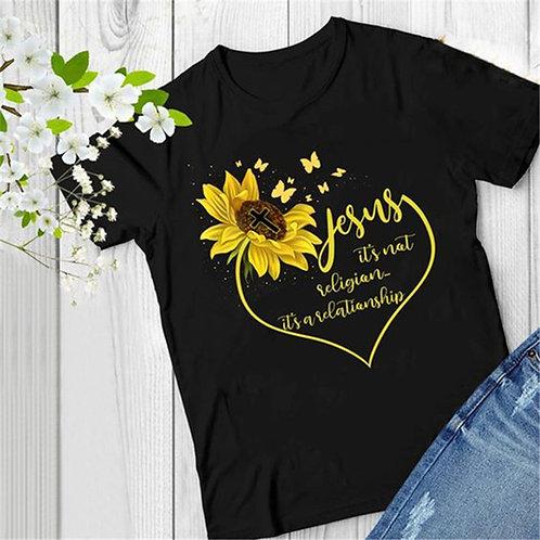 Jesus Sunflower Graphic Tee
