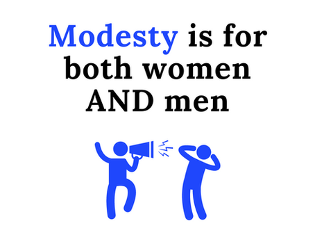 Modesty is for Men, too!