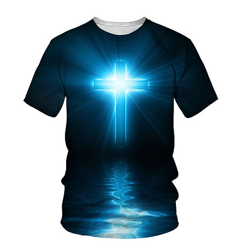 3D Bright Jesus Cross T-Shirt