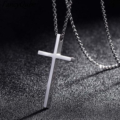 Titanium Cross Pendant Minimalist Necklace