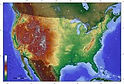Topographic map of the United States