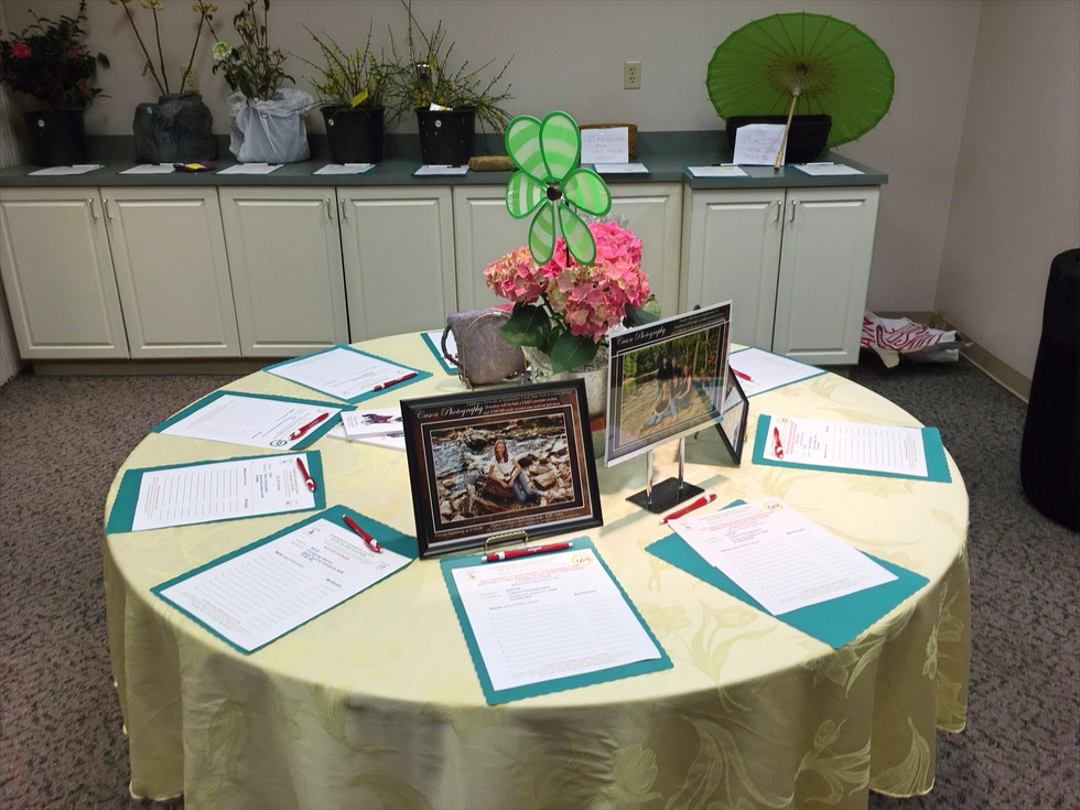 One of Our Many Auction Tables