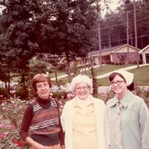 Garden Club Members Visiting Current Member Donna Burt's Roses 1979