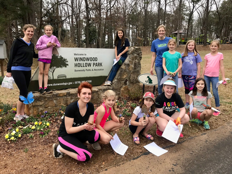 Daffodil Planting with Girl Scouts