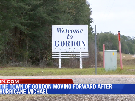 The town of Gordon moving forward after Hurricane Michael